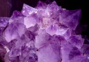 Large purple crystals